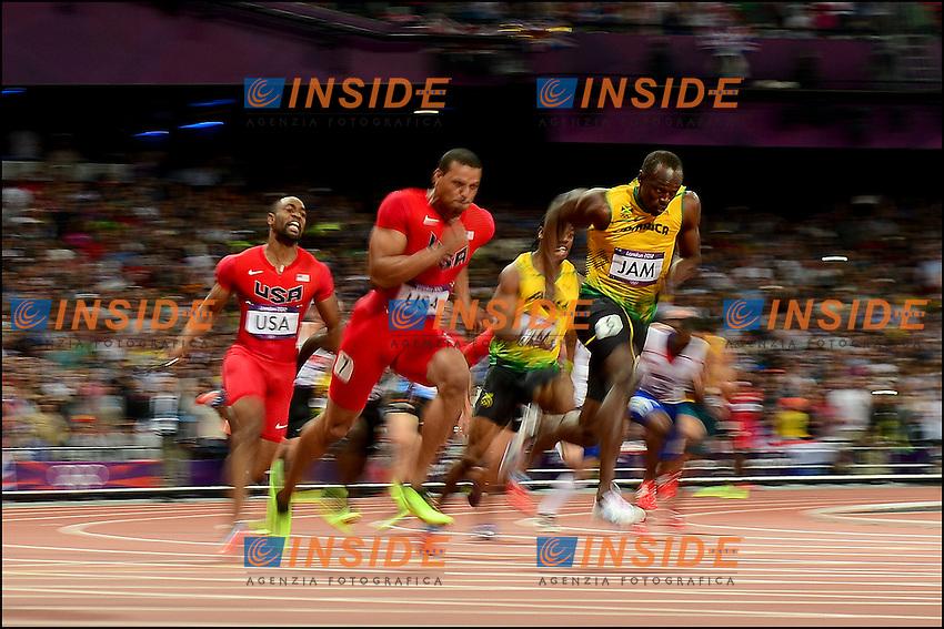 Usain Bolt (JAM) during Men's 4 x 100m final at the 2012 Summer Olympics at Olympic Stadium, London, United Kingdom on 2012/08/11.PhotoCredit: Insidefoto /JB Autissier / FEP / Panoramic