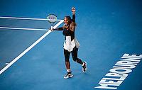 SERENA WILLIAMS (USA)<br /> <br /> TENNIS , AUSTRALIAN OPEN,  MELBOURNE PARK, MELBOURNE, VICTORIA, AUSTRALIA, GRAND SLAM, HARD COURT, OUTDOOR, ITF, ATP, WTA<br /> <br /> &copy; TENNIS PHOTO NETWORK