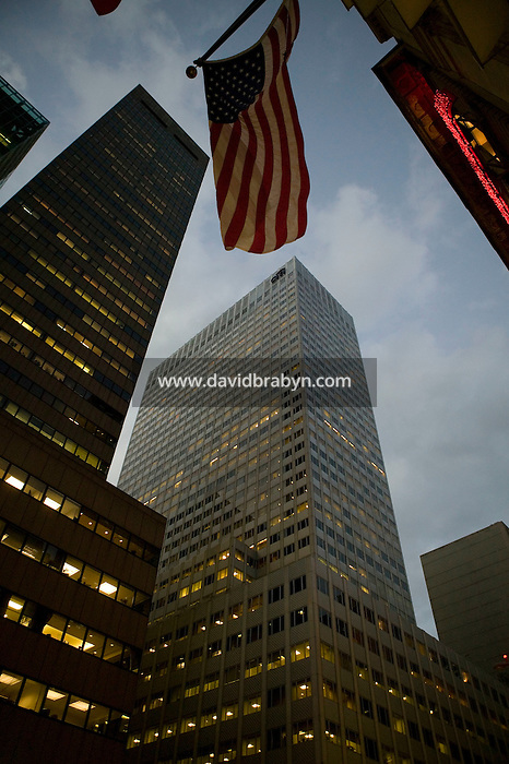 7 December 2006 - New York City, NY - View of the 666 Fifth Avenue skyscraper near 53rd Street in New York City, 7 December 2006. The Kushners, a New Jersey real estate family, will buy the building from Tishman Speyer Properties for $1.8 billion, a new record for a single office building. Previous record was $1.72 billion spent by Tishman Speyer for the MetLife Building.