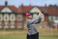 Caroline Inglis (USA) on the 2nd fairway during Round 3 of the Ricoh Women's British Open at Royal Lytham &amp; St. Annes on Saturday 4th August 2018.<br /> Picture:  Thos Caffrey / Golffile<br /> <br /> All photo usage must carry mandatory copyright credit (&copy; Golffile | Thos Caffrey)