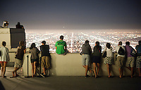 Incoming Occidental College first years go on group outings as part of OxyEngage. The trips take place the week before classes start. This group (Icons of L.A.) took a trip to Griffith Observatory, August 26, 2010. (Photo by Marc Campos, Occidental College Photographer)
