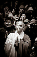 Venerable Beop Jeong, seurim,funeral, Songgwang Temple, South Korea, buddhist, monk, spiritual, religious, ceremony, cremation, prayers, mourners