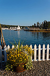 View of Boothbay Harbor, Lincoln County, Maine, USA