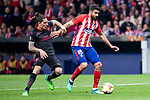 Atletico de Madrid Diego Costa and Arsenal FC Jose Maria Gimenez during Europa League Semi Finals First Leg match between Atletico de Madrid and Arsenal FC at Wanda Metropolitano in Madrid, Spain. May 03, 2018.  (ALTERPHOTOS/Borja B.Hojas)