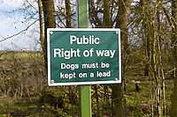Bridleway sign and access - Northamptonshire, February