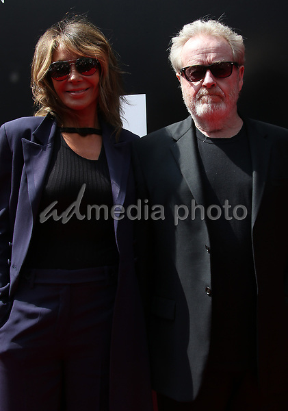 17 May 2017 - Hollywood, California - Sir Ridley Scott, Giannina Facio. Sir Ridley Scott Hand And Footprint Ceremony. Photo Credit: AdMedia