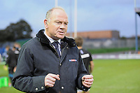 Sky Sport presenter Ieuan Evans during the LV= Cup second round match between Ospreys and Northampton Saints at Riverside Hardware Brewery Field, Bridgend (Photo by Rob Munro)