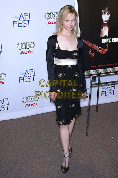 "THORA BIRCH.AFI Fest 2006 by Audi Presents ""Dark Corners"" Premiere - Arrivals held at the ArcLight, Hollywood, California, USA,10 November 2006..full length black dress shrug red lipstick.Ref: ADM/ZL.www.capitalpictures.com.sales@capitalpictures.com.©Zach Lipp/AdMedia/Capital Pictures."