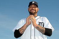 Feb 21, 2009; Lakeland, FL, USA; The Detroit Tigers pitcher Joel Zumaya (54) during photoday at Tigertown. Mandatory Credit: Tomasso De Rosa/ Four Seam Images