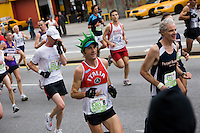 Runners approaching Mile 7 in the ING New York City Marathon.