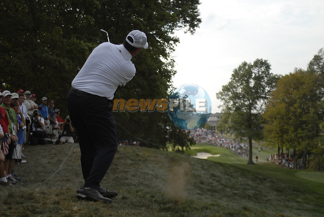 USA Team player Boo Weekley plays out of the rough on the 11th hole during the Afternoon Fourballs on Day1 of the Ryder Cup at Valhalla Golf Club, Louisville, Kentucky, USA, 19th September 2008 (Photo by Eoin Clarke/GOLFFILE)