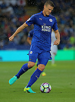 Pictured: Robert Huth of Leicester City Saturday 27 August 2016<br /> Re: Swansea City FC v Leicester City FC Premier League game at the King Power Stadium, Leicester, England, UK