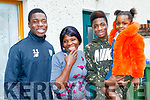 Kevin Williams, left, from Rath Oraigh, Tralee with his family, Doris, Oluwafemi and little Elizebeth out side his home last Saturday, February16th, before leaving to join the FAI squad on a tour of the UK where he play the likes of Crystal Palace, QPR and Brighton.