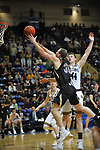 SALEM, VA - MARCH 17: Nebraska Wesleyan Prairie Wolves forward Cooper Cook (30) Most Outstanding Player of the tournament drives past Wisconsin-Oshkosh Titans Jack Flynn C (44) during the Division III Men's Basketball Championship held at the Salem Civic Center on March 17, 2018 in Salem, Virginia. Nebraska Wesleyen defeated Wisconsin-Oshkosh 78-72 for the national title. (Photo by Andres Alonso/NCAA Photos/NCAA Photos via Getty Images)