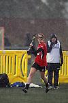 Santa Barbara, CA 02/19/11 - Samantha Jensen (Utah #5) in action during the Utah-Nevada Reno game at the 2011 Santa Barbara Shootout.