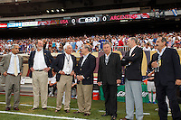 US Soccer Federation president Sunil Gulati, New Jersey Governor Jon S. Corzine, Senator Frank Lautenberg, Senator Bob Menendez, MLS commissioner Don Garber. The men's national teams of the United States and Argentina played to a 0-0 tie during an international friendly at Giants Stadium in East Rutherford, NJ, on June 8, 2008.