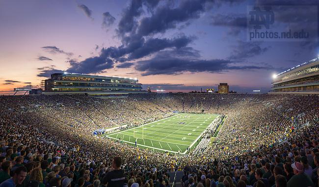 September 17, 2016; Sunset over Notre Dame Stadium. (Photo by Matt Cashore)