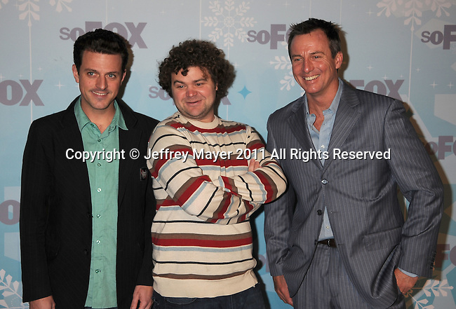 PASADENA, CA - January 11: Pat Parnell, Jordan Morris and Chris Fairbanks attend the 2011 Fox All-Star Party at Villa Sorriso on January 11, 2011 in Pasadena, California.