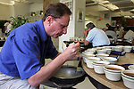 NEW YORK - MAY 05, 2006:  Terry Sullivan tests coffee at the New York Board of Trade on May 5, 2006 in New York City.  (Photo by Michael Nagle).