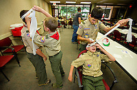 Event photography of the 2013 Duke Energy Merit Badge Encampment, held at the Duke EnergyExplorium at the McGuire Nuclear Energy Station in Huntersville. The annual event gave Boy Scouts the opportunity to work on 21 merit badges, including First Aid, environmental sciences, chemistry and citizenship in the nation.