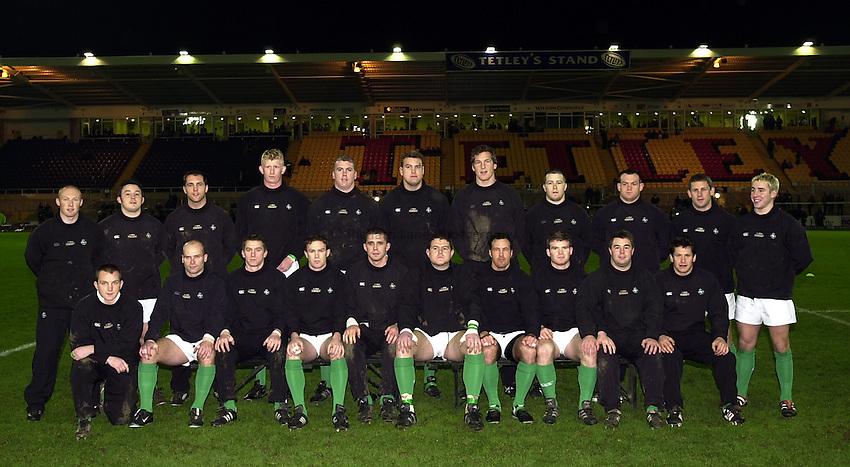 Photo. Richard Lane. .England A v Ireland A at Franklins Gardens, Northampton..15/02/2002..Ireland A