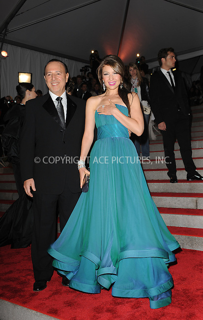 WWW.ACEPIXS.COM . . . . . ....May 4 2009, New York City....Tommy Mottola and Thalia arriving at 'The Model as Muse: Embodying Fashion' Costume Institute Gala at The Metropolitan Museum of Art on May 4, 2009 in New York City.....Please byline: KRISTIN CALLAHAN - ACEPIXS.COM.. . . . . . ..Ace Pictures, Inc:  ..tel: (212) 243 8787 or (646) 769 0430..e-mail: info@acepixs.com..web: http://www.acepixs.com