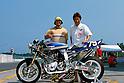 Riders Akinori OKADA & Tadashi ASAHINA..EXTEC ASAHINA RACING..SUZUKA 8 HOURS, JAPAN, 01/08/2003.