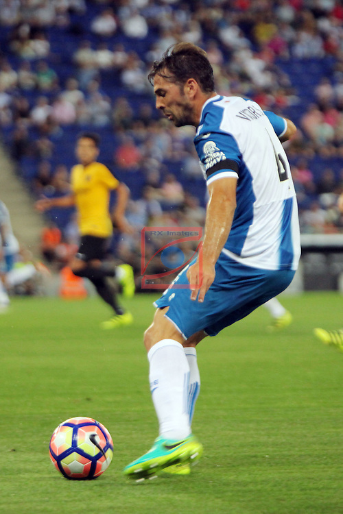 League Santander 2016/2017. Game: 2.<br /> RCD Espanyol vs Malaga CF: 2-2.<br /> Victor Sanchez.