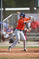 Evan Carter (55) during the WWBA World Championship at the Roger Dean Complex on October 13, 2019 in Jupiter, Florida.  Evan Carter attends Elizabethton High School in Johnson City, TN and is committed to Duke.  (Mike Janes/Four Seam Images)