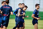 UD Levante's Jose Luis Morales (l) and Ivan Lopez during training session. June 10,2020.(ALTERPHOTOS/UD Levante/Pool)