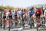 The peloton in action during Stage 2 of La Vuelta 2019 running 199.6km from Benidorm to Calpe, Spain. 25th August 2019.<br /> Picture: Luis Angel Gomez/Photogomezsport | Cyclefile<br /> <br /> All photos usage must carry mandatory copyright credit (© Cyclefile | Luis Angel Gomez/Photogomezsport)