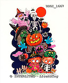 GIORDANO, CUTE ANIMALS, LUSTIGE TIERE, ANIMALITOS DIVERTIDOS, Halloween, paintings+++++,USGI1667,#AC#