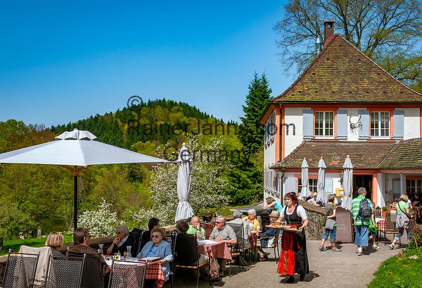 Deutschland, Baden-Wuerttemberg, Markgraefler Land, Schloss Buergeln, Schloss-Restaurant, Cafe   Germany, Baden-Wuerttemberg, Markgraefler Land, castle Buergeln