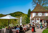 Deutschland, Baden-Wuerttemberg, Markgraefler Land, Schloss Buergeln, Schloss-Restaurant, Cafe | Germany, Baden-Wuerttemberg, Markgraefler Land, castle Buergeln