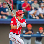 5 March 2016: Washington Nationals outfielder Matt den Dekker in action during a Spring Training pre-season game against the Detroit Tigers at Space Coast Stadium in Viera, Florida. The Nationals defeated the Tigers 8-4 in Grapefruit League play. Mandatory Credit: Ed Wolfstein Photo *** RAW (NEF) Image File Available ***