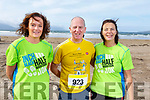 Ready for the Inch Half Marathon on Inch Beach on Sunday morning.<br /> L-r, Marie O&rsquo;Sullivan (Beaufort), Bernard Brady (Annascaul) and Christina Landers (Annascaul).