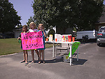 Young girls with Lemonade stand