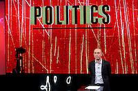 Il conduttore Gianluca Semprini<br /> Roma 07-09-2016 Rai, trasmissione televisiva 'Politics'.<br /> Rome 7th September 2016 Tv show 'Politics'.<br /> Photo Samantha Zucchi Insidefoto