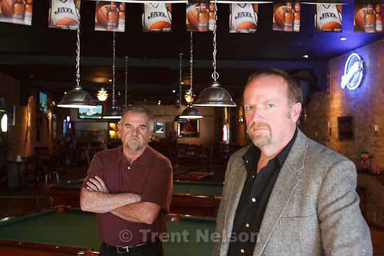 Tuesday, November 17 2009. Jeff and Tracy Socwell, brothers and co-owners of the Top Shelf Sports Bar in Ogden, which lost its liquor license today.