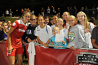 Boyds, MD - Saturday August 26, 2017: Fans, Caprice Dydasco during a regular season National Women's Soccer League (NWSL) match between the Washington Spirit and the Chicago Red Stars at Maureen Hendricks Field, Maryland SoccerPlex.