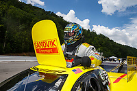 Jun 17, 2017; Bristol, TN, USA; NHRA funny car driver Matt Hagan during qualifying for the Thunder Valley Nationals at Bristol Dragway. Mandatory Credit: Mark J. Rebilas-USA TODAY Sports