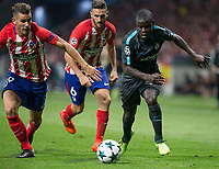 Chelsea´s midfielder N´Golo Kante during the UEFA Champions League group C match between Atletico Madrid and Chelsea played at the Wanda Metropolitano Stadium in Madrid, on September 27th 2017.