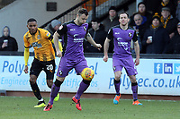 Antony Kay of Port Vale and Jevani Brown of Cambridge United during Cambridge United vs Port Vale, Sky Bet EFL League 2 Football at the Cambs Glass Stadium on 9th February 2019