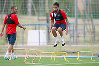 Getafe CF's Medhi Lacen (l) and Chuli during training session. August 1,2017.(ALTERPHOTOS/Acero) /NortePhoto.com