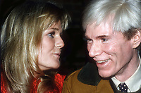 Valerie Perrine and  Andy Warhol 1982<br /> Photo By Adam Scull/PHOTOlink /MediaPunch