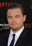"HOLLYWOOD, CA. - July 13: Leonardo DiCaprio arrives to the ""Inception"" Los Angeles Premiere at Grauman's Chinese Theatre on July 13, 2010 in Hollywood, California."