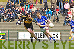 Daithi Casey Dr Crokes tries to stop Mike Francie Russell Laune Rangers during their Club Championship semi final in Killarney on Sunday