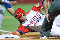 7 March 2009:  #15 Carlos Beltran of Puerto Rico is tag out at third base during the 2009 World Baseball Classic Pool D match at Hiram Bithorn Stadium in San Juan, Puerto Rico. Puerto Rico wins 7-0 over Panama.