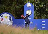 23 Sept 14  Matt Kuchar during the Tuesday Practice Round at The Ryder Cup at The Gleneagles Hotel in Perthshire, Scotland. (photo credit : kenneth e. dennis/kendennisphoto.com)