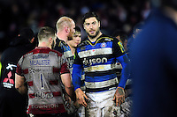 Matt Banahan of Bath Rugby looks on after the match. Aviva Premiership match, between Gloucester Rugby and Bath Rugby on March 26, 2016 at Kingsholm Stadium in Gloucester, England. Photo by: Patrick Khachfe / Onside Images